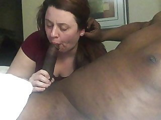 BBW Hot Wife sucking BBC