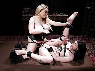 Female Dominatrix Aiden Starr Punishes Lydia Black