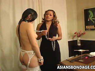 Asian freak fest with roped up waxed sluts