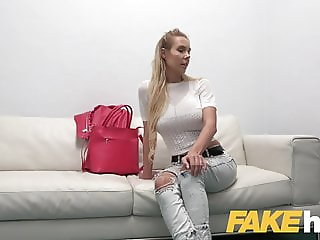 Fake Agent Busty czech babe loves fingering and fucking