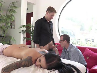 Brandy Aniston with 2 Bisexual Men