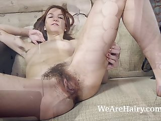 Atisha masturbates and orgasms after gardening