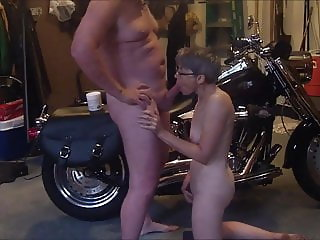 Wife sucking my cock as she orgasms
