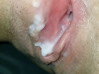 Creampie for the GF. Dirty talking whore she is.