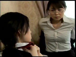 JP297 Japanese Lesbians making out