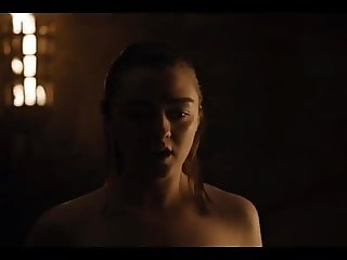 Maisie Williams (Aria Stark) Naked Sex Scene GOT S8 E2