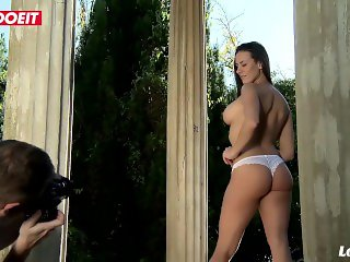 LETSDOEIT - Mea Melone Gets Horny At Her Photoshoot In France