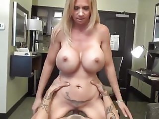 Very Sexy and Busty Wife First Experience with Young Boy