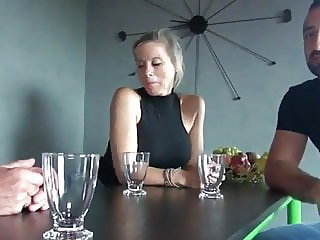 Blonde milf big boobs gets banged