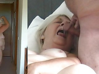 Drunken 65 year old slapper stripteasing