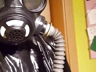 Saturday in Rubber with gasmask