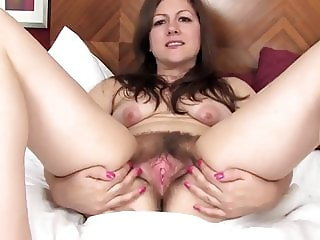 LACEY SHOWING HER HAIRY SNATCH AND ARSEHOLE