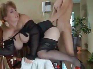 Skinny Teen Boy with Big Cock Fucks Desperate Housewife