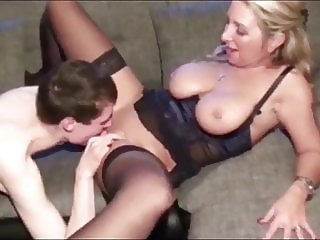 Skinny Teen Boy with Big Cock Used By Divorced Cougar MILF