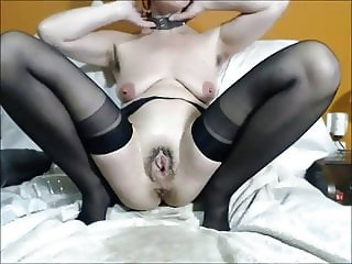 slut destroys her asshole