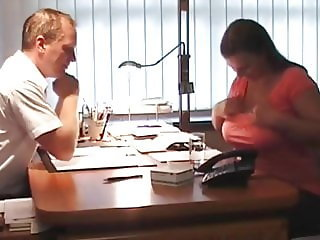 Naughty BBW Wife Came for an Interview To Get new Job