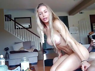 amazing milf with perfect tits takes hot creampi by her ex