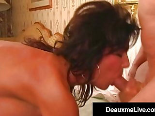 Busty Cougar Deauxma Straddles Her Husband's Stiff Dick!
