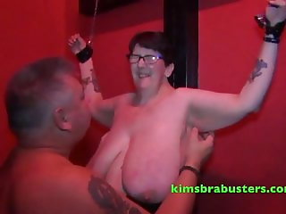 John with Busty Shaz at the swingers club red room