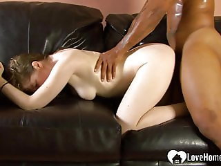 Cute horny babe makes her lover cuckold