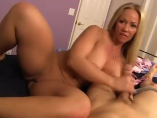 MilfPornCity-Step Mom gives Son Handjob