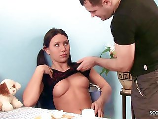 Bro Seduce Cute Step Sister Stacy to First Time Anal Sex