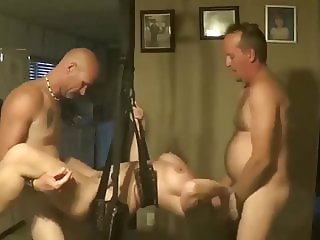 Homemade Swingers Sex Swing Threesome