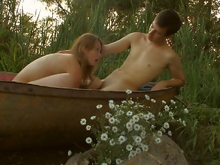 On the edge of the lake, these teens give into their sexual desires. As soon as they were alone today, their thoughts quickly turned to sex and every naughty.