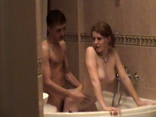 Check out this voyeur video of a teen cutie caught having a very hot and steamy moment with her boyfriend in the bathroom. She has no idea the camera is there.