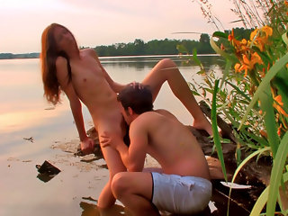 These two teens are beautiful together as they have unhindered sex in the outdoors.  The Teendorf couple Viola and Rex find the perfect secluded spot in the shallow pond to strip off their clothes and start kissing all over each others young bodies.  Viol