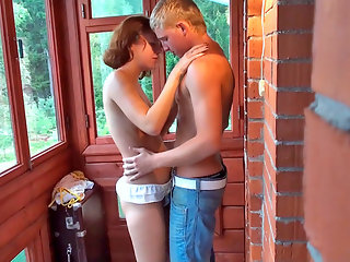 Daria was supposed to be house-sitting for her neighbors but when Garik showed up she couldnt help but show him all the naughty things they could do together in the screened back porch! Daria just couldnt get enough of knowing that everything they were do