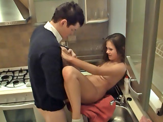 Elizabet has been cooking again, and poorly, again, so Guga had no other choice then to do what he does the best and what he knows slutty brunette enjoys the most, he pulled out his cock and gave her a big helping of it. Not right away, of course, Guga li