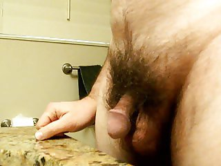 Small cock throbbing and cumming