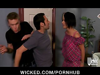 Sexy brunette femdom Eva Angelina loves rough-sex with her man