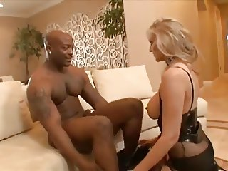 Jizz Covered Interracial MILF