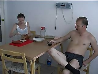 Daddy and young girl fuck