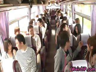 Funny real asian babes are takes a bus tour part1