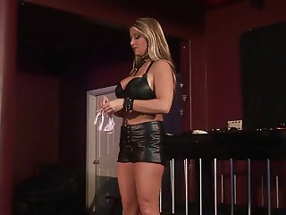 Mistress ties up and teases man