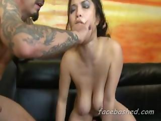 Used Slut Chokes Herself In Gangbang That Is Extremely Rough