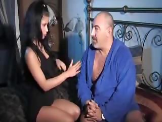 Italian latina daughter and old dad