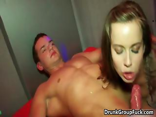 Very hot girl is blowing cock part4