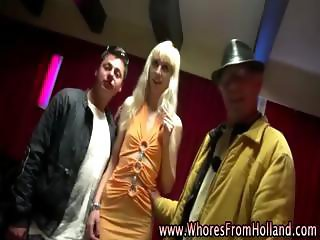 Amateur guy visits leggy blonde hooker for sex