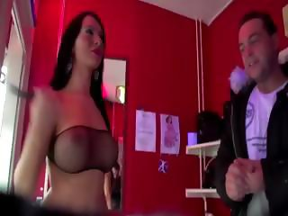 Kinky amateur visits hooker and gets cock slapped