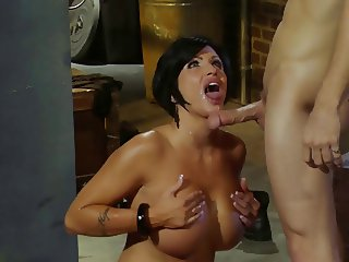 BUSTY SLUT FUCKED BY ROBBER