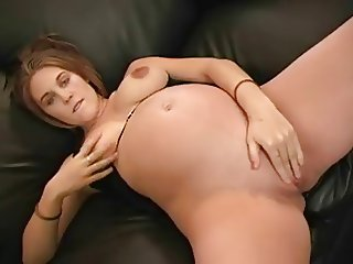 pregnant sweet dildo girl with Screaming Orgasm