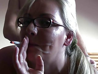 Smoking Fetish - Amazing blonde smoking and fucking!