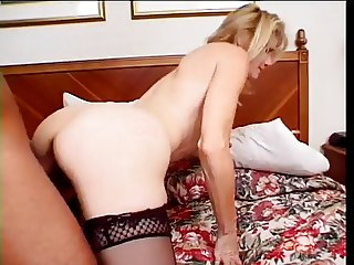Hot Blonde Mature Cougar Bangs Male Escort