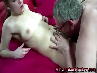 Whore rides older guys cock