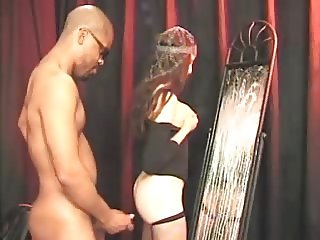 Domme Lactating Bikergirl Strapon Play in Stockings