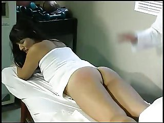 Aunt Gwen spanks Kara in medical office 5